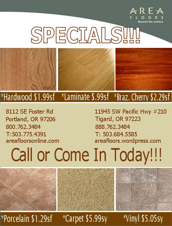 Area Floors Flyer